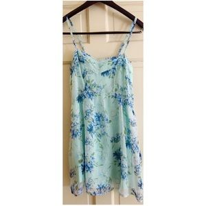 Abercrombie & Fitch Floral Chiffon Crepe Dress S